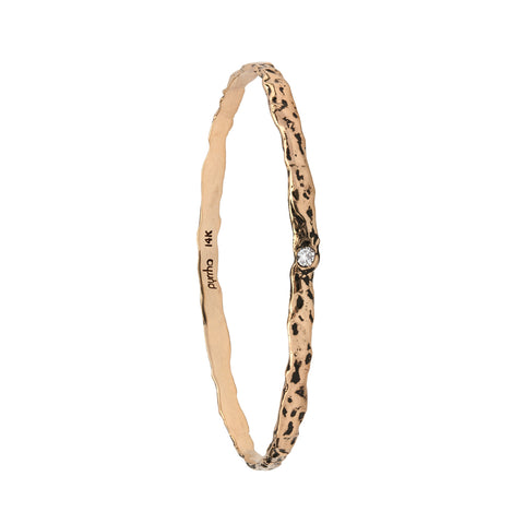 14k texture bangle - pyrrha - 1