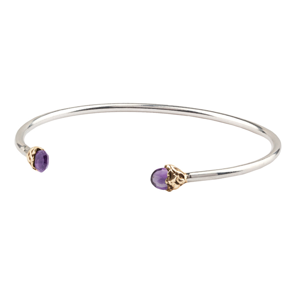 Balance Capped Attraction Charm Open Bangle
