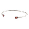 Clarity Capped Attraction Charm Open Bangle