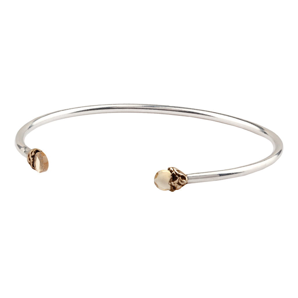 Confidence Capped Attraction Charm Open Bangle