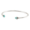Family Capped Attraction Charm Open Bangle