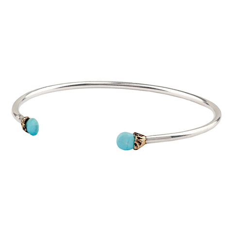 Friendship Capped Attraction Charm Open Bangle