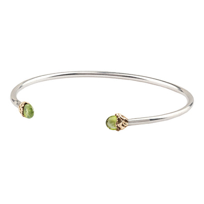 Positivity Capped Attraction Charm Open Bangle