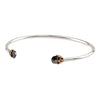 Vitality Capped Attraction Charm Open Bangle