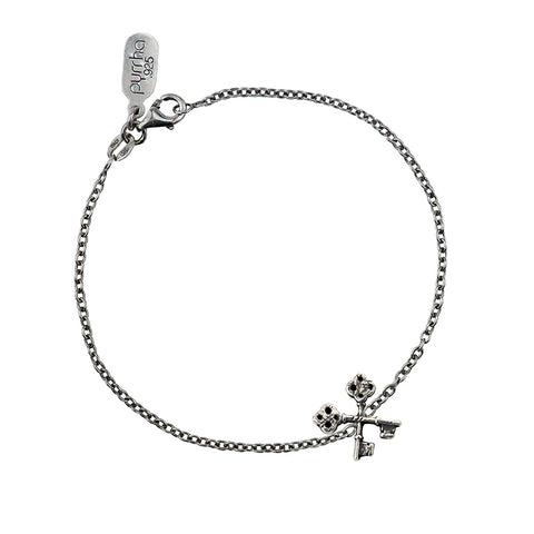 Crossed Keys Symbol Charm Chain Bracelet - Pyrrha  - 1