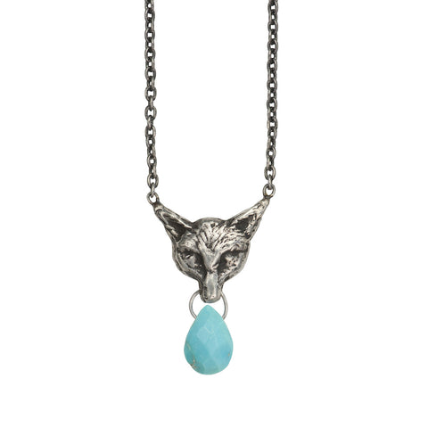 Fox Briolette with Turquoise - Pyrrha  - 1