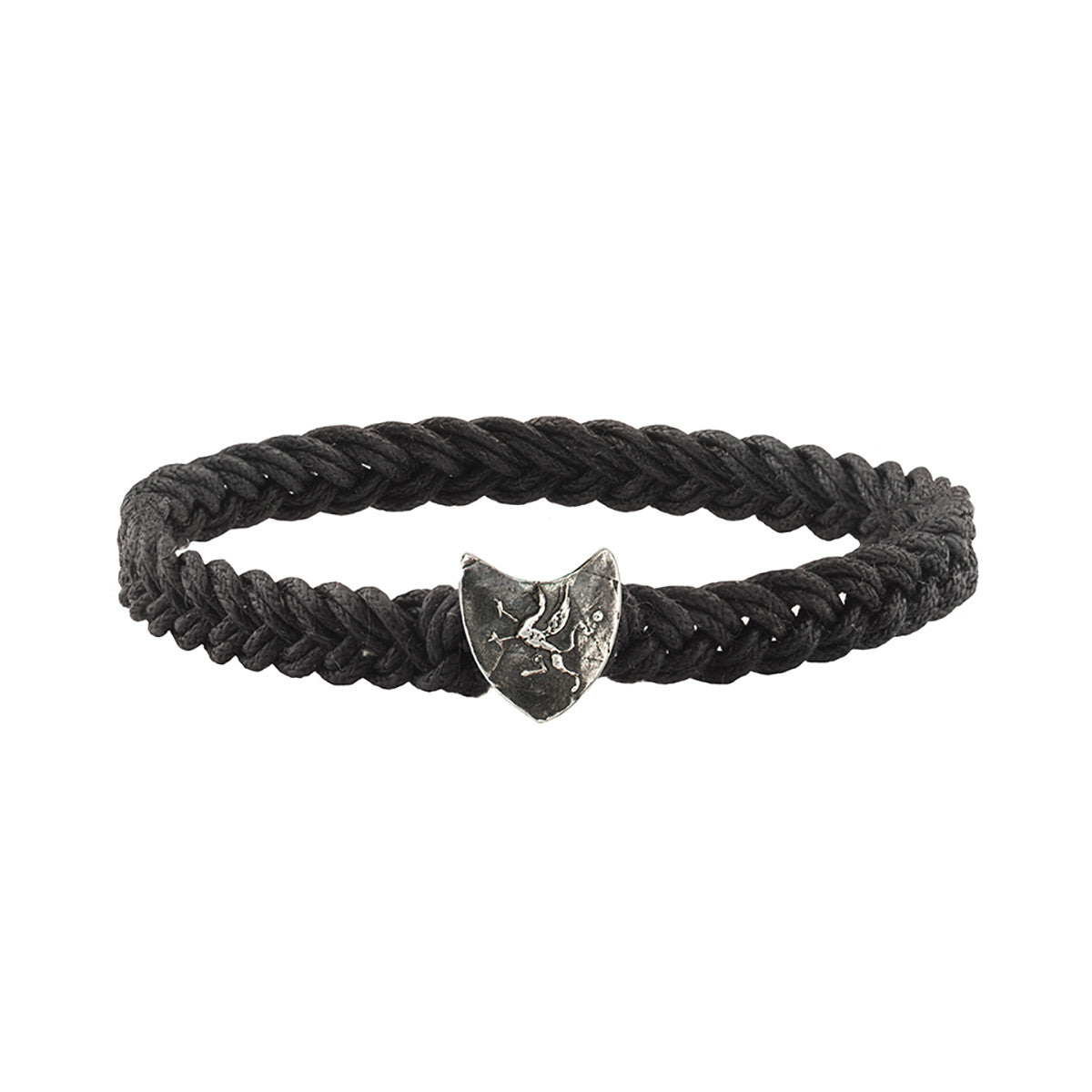 Gryphon Shield Braided Bracelet - Pyrrha  - 1