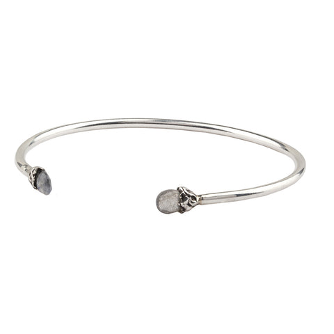Harmony Capped Attraction Charm Open Bangle - Pyrrha  - 1