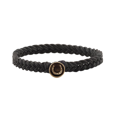Horseshoe Braided Bracelet - Pyrrha