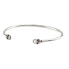 Improvement Capped Attraction Charm Open Bangle - Pyrrha