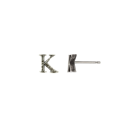 Letter Single Stud Earring - Pyrrha  - 1