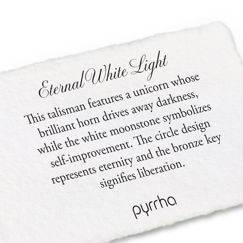 Pyrrha White Light Eternal Necklace