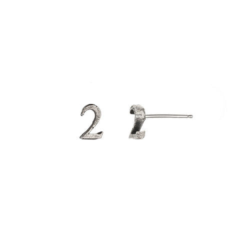 Number Single Stud Earring - Pyrrha  - 1