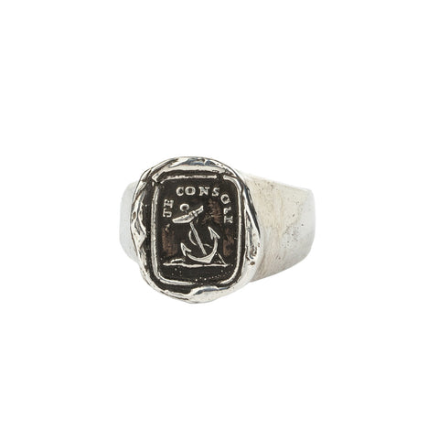 Peace of Mind Signet Ring - Pyrrha  - 1