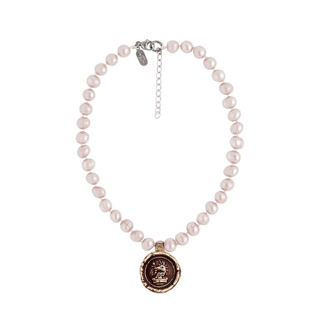 Love & Well-Being Knotted Freshwater Pearl Choker