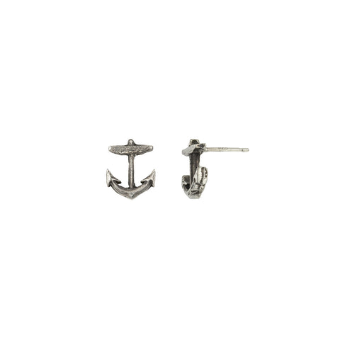 Anchor Symbol Single Stud Earring - Pyrrha  - 1