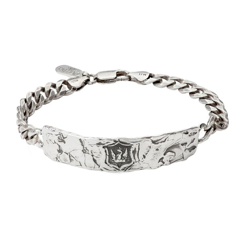Bravery & Protection Wide ID Bracelet - Pyrrha  - 1