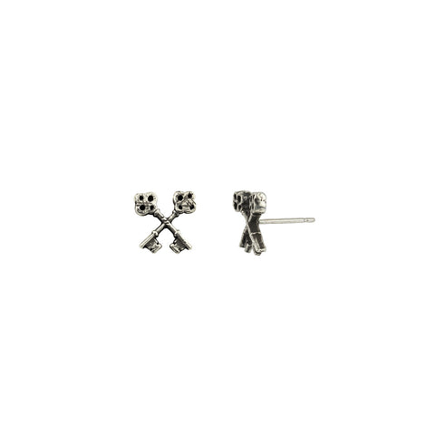 Crossed Keys Symbol Single Stud Earring - Pyrrha  - 1