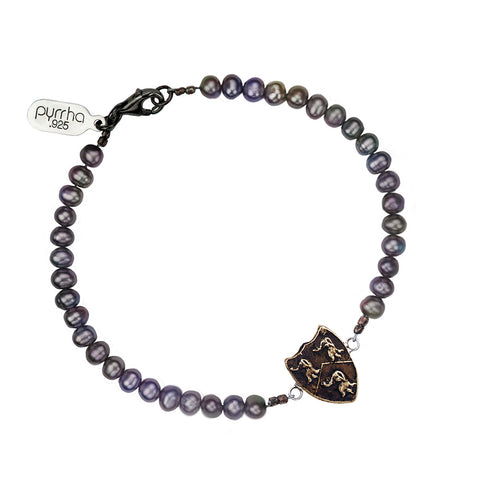 Longevity, Happiness & Good Luck Freshwater Pearl Bracelet - Pyrrha  - 1
