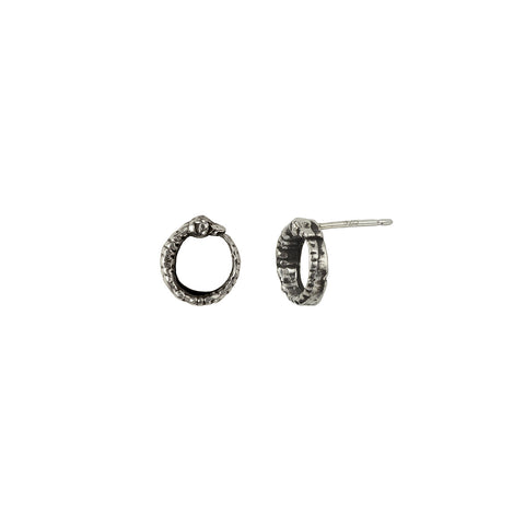 Ouroboros Symbol Single Stud Earring - Pyrrha  - 1