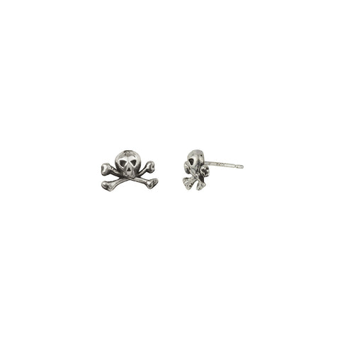 Skull & Crossbones Symbol Single Stud Earring - Pyrrha  - 1