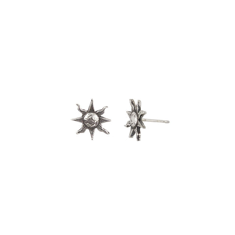 Sun Symbol Single Stud Earring - Pyrrha  - 1