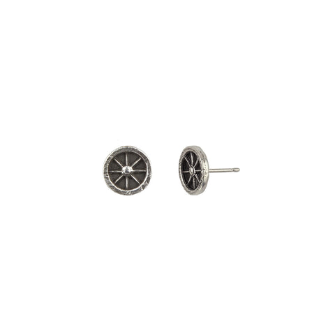 Wheel Symbol Single Stud Earring - Pyrrha  - 1