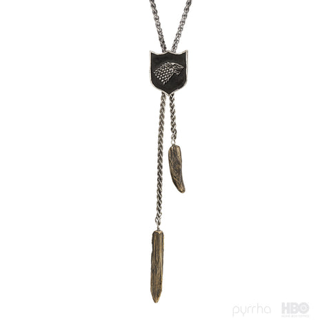 House Stark Shield Necklace - Pyrrha