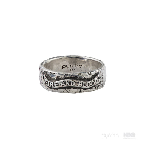 House Targaryen Banner Band Ring - Pyrrha