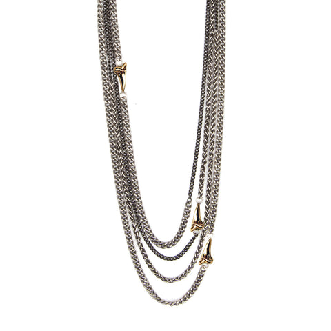 Tooth Wrap Chain Necklace - Pyrrha  - 1