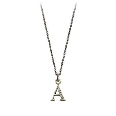 Pyrrha Letter A Initial Charm Necklace Silver