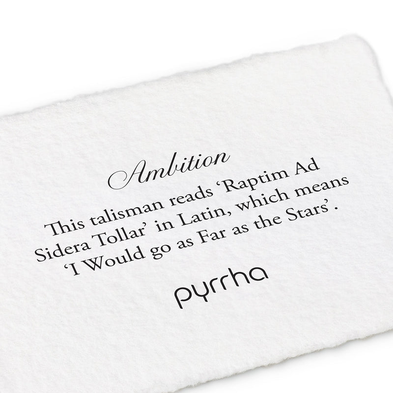 Pyrrha Ambition Talisman Necklace Silver