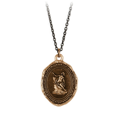Pyrrha Andromeda Goddess Talisman Necklace Bronze