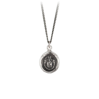 Pyrrha Be Here Now Talisman Necklace Silver
