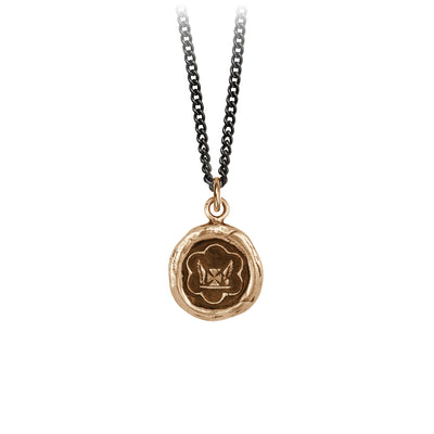 Pyrrha Be True to Yourself Talisman Necklace Bronze