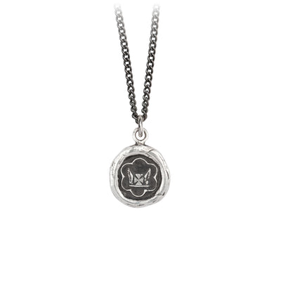 Pyrrha Be True to Yourself Talisman Necklace Silver