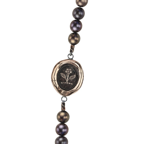 Beauty & Strength Freshwater Pearl Necklace - Pyrrha  - 1