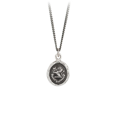 Pyrrha Brave in Difficulties Talisman Necklace Silver
