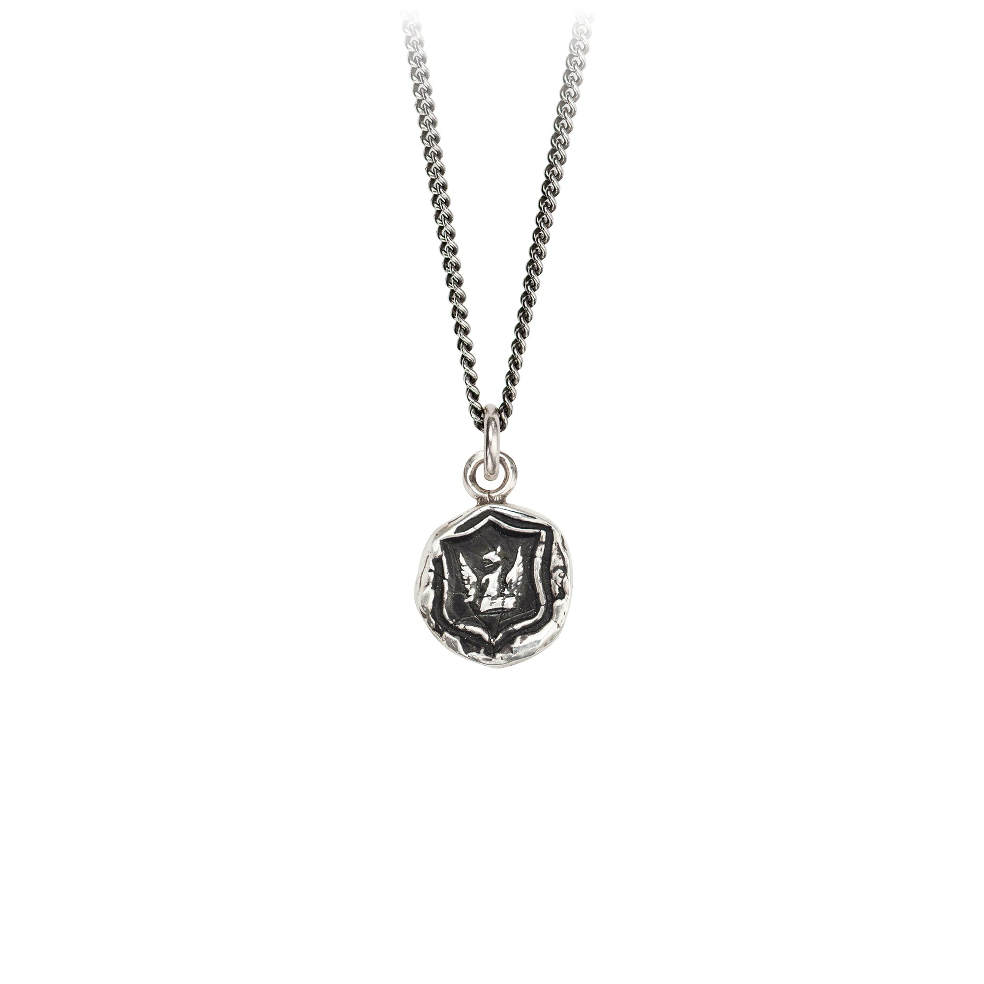Pyrrha Bravery & Protection Talisman Necklace Silver