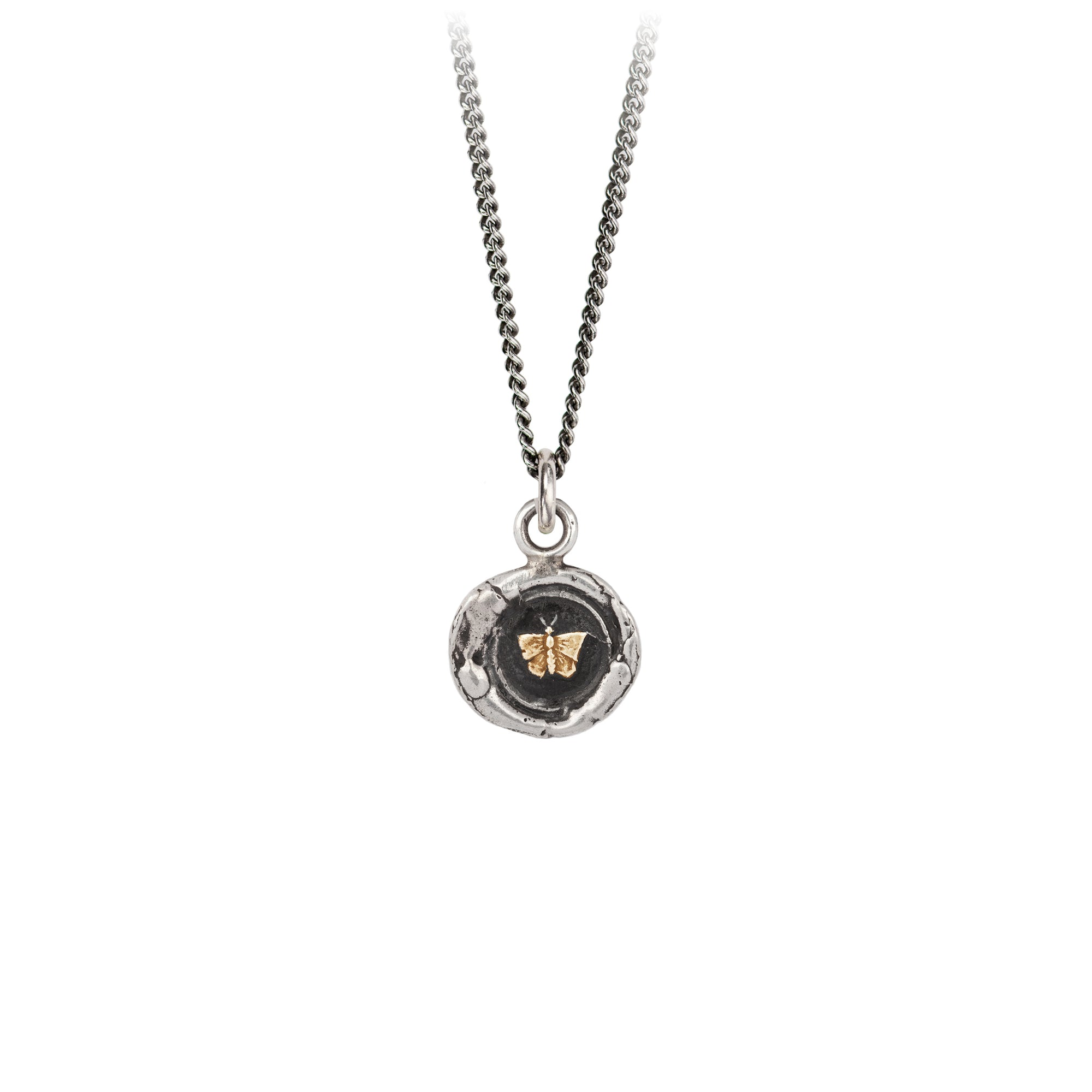 Butterfly 14K Gold on Silver Talisman