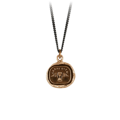 Pyrrha Carpe Diem Talisman Necklace Bronze