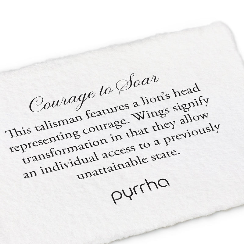 Pyrrha Courage to Soar Talisman Necklace Silver
