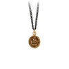 Pyrrha Courage to the Last Talisman Necklace Bronze