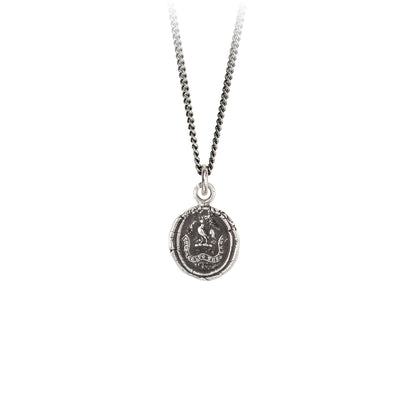 Pyrrha Courage to the Last Talisman Necklace Silver