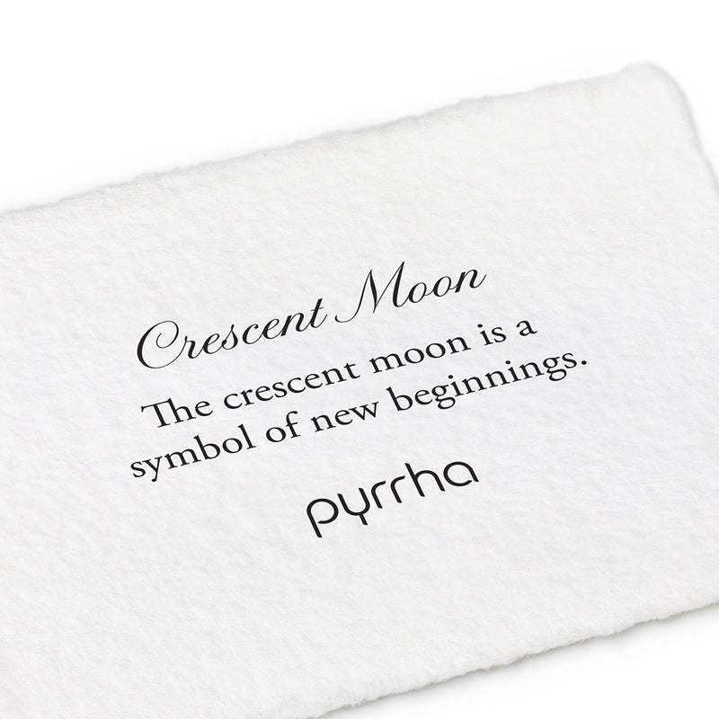 Crescent Moon Symbol Thread Through Earrings - Pyrrha  - 1