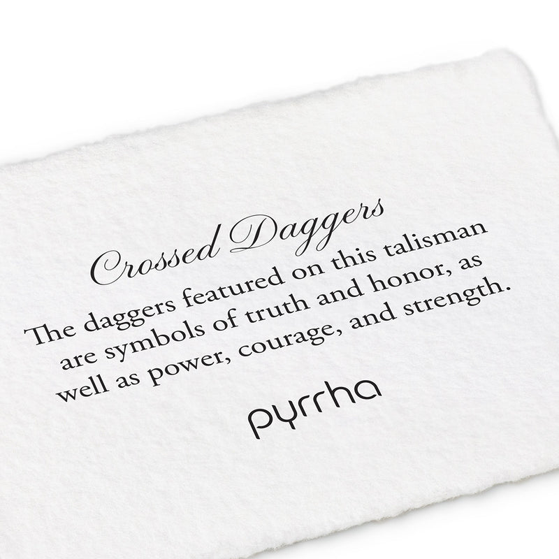 Crossed Daggers Key Chain - Pyrrha  - 1