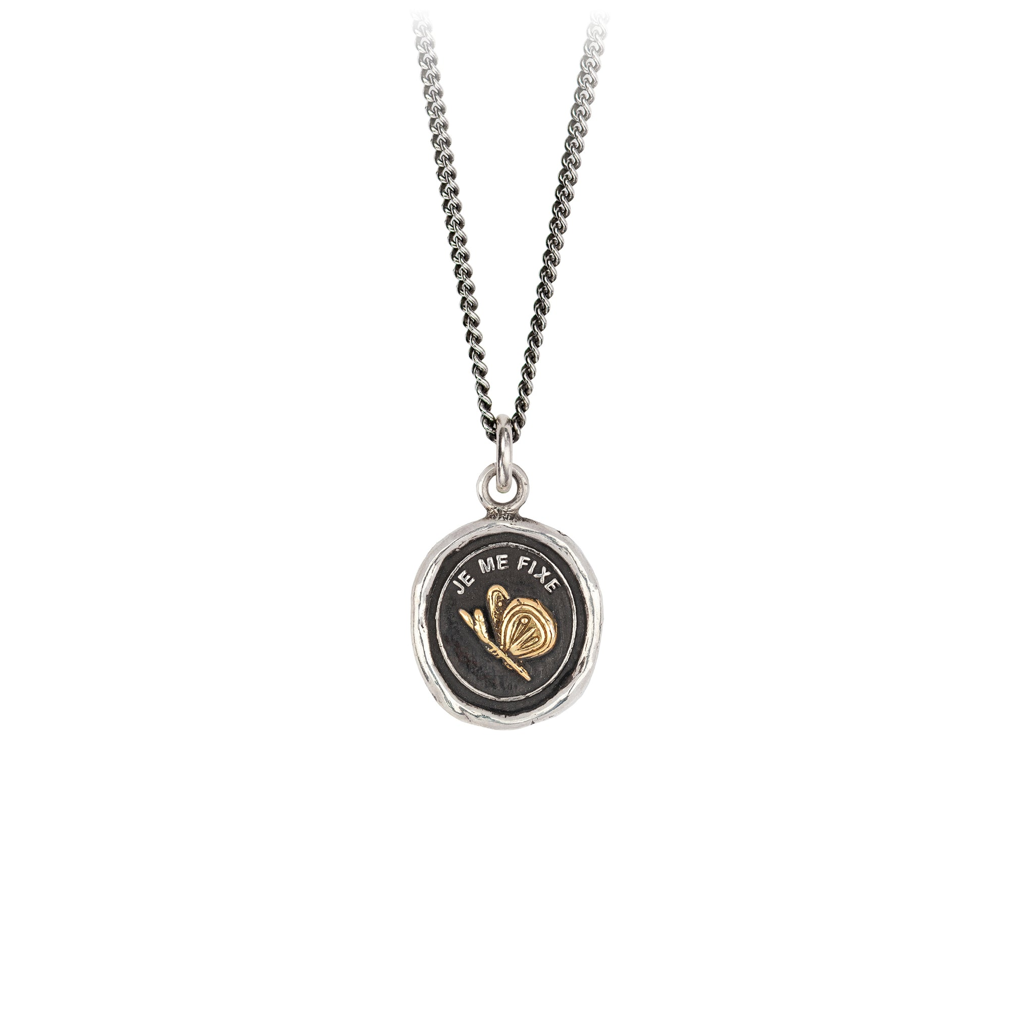 Pyrrha 14K Gold on Silver Determination Talisman Necklace