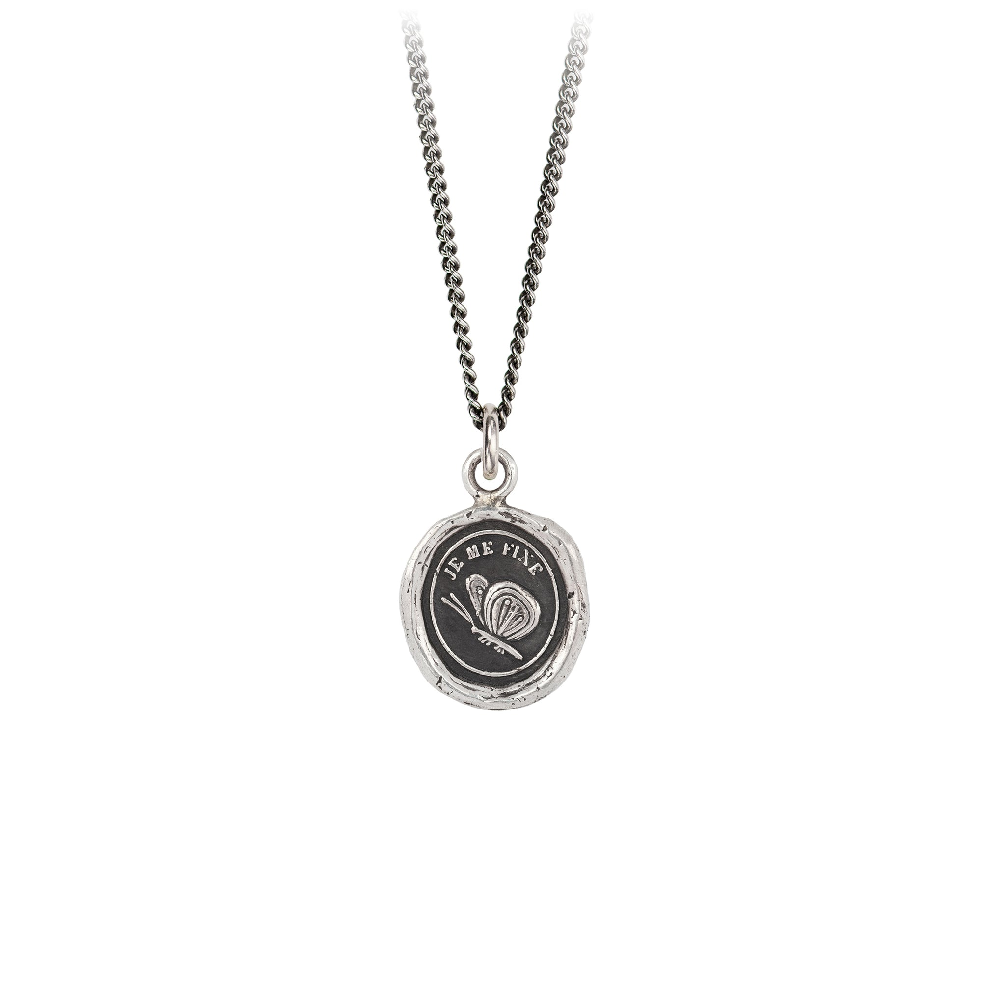 Pyrrha Determination Talisman Necklace Silver