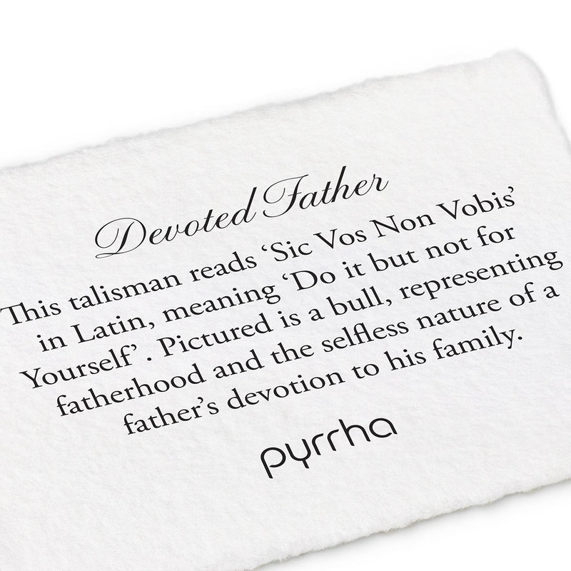 Pyrrha Devoted Father Talisman Necklace Silver