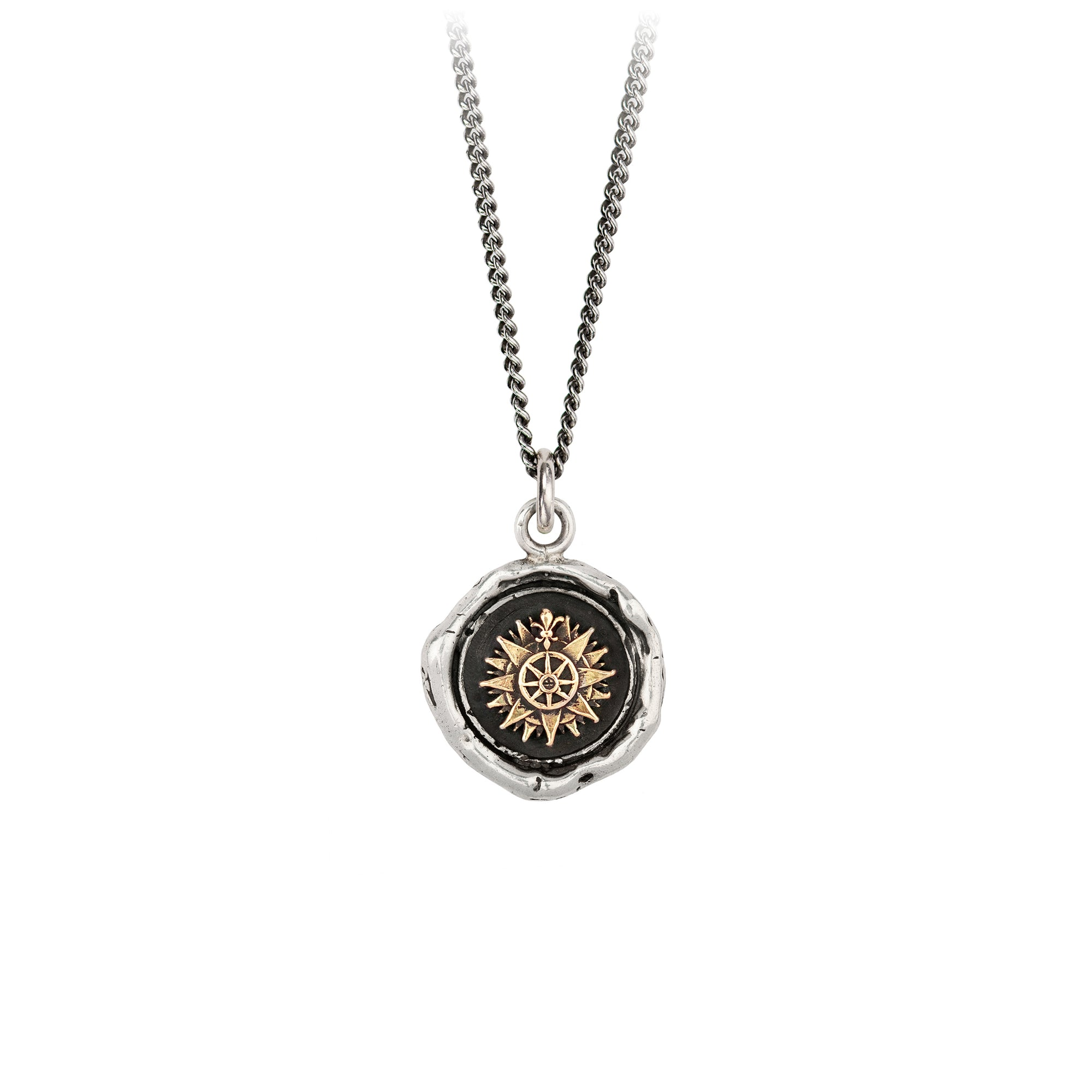 Pyrrha 14K Gold on Silver Direction Talisman Necklace